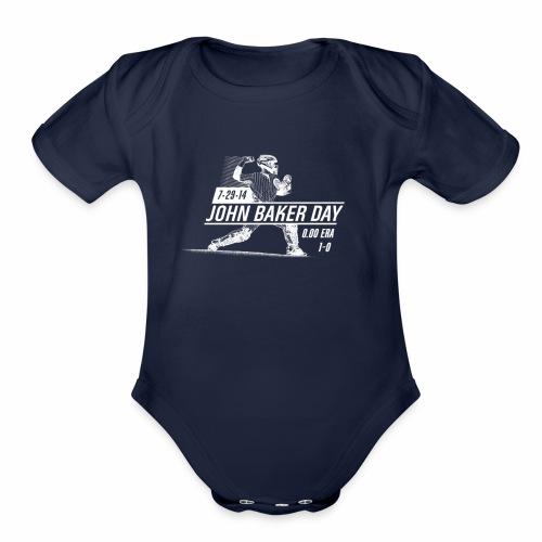 John Baker Day White - Organic Short Sleeve Baby Bodysuit