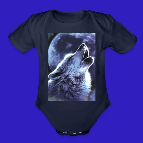 alpha plays shirts - Organic Short Sleeve Baby Bodysuit