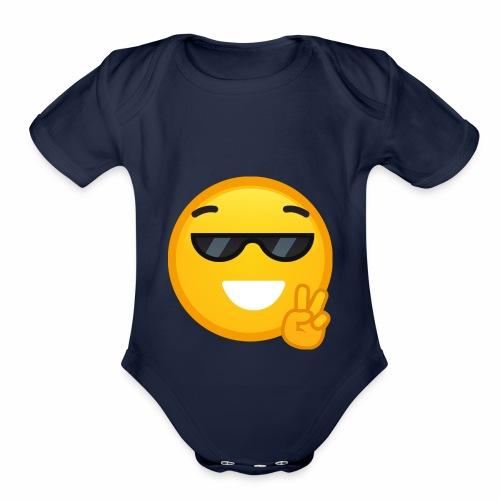 I am cool - Organic Short Sleeve Baby Bodysuit