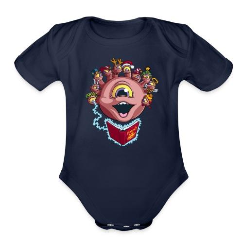 Behold the Seasonal Cheer - Organic Short Sleeve Baby Bodysuit