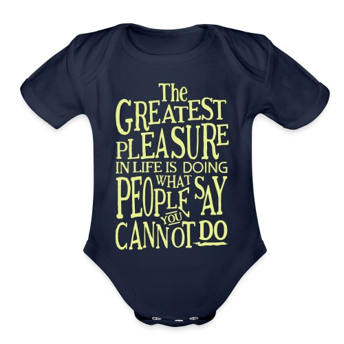 The Greatest Pleasure - Organic Short Sleeve Baby Bodysuit