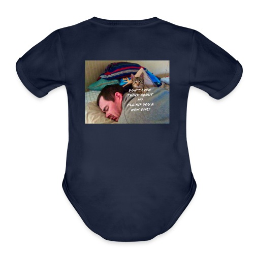 Beware Cat - Organic Short Sleeve Baby Bodysuit