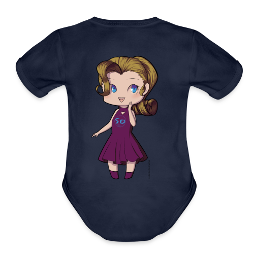 Anime Chibi Girl - Organic Short Sleeve Baby Bodysuit
