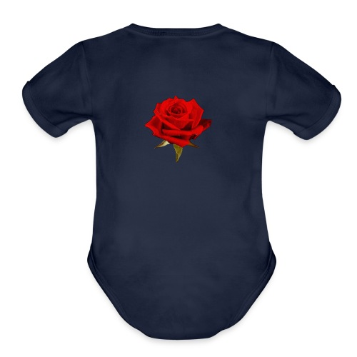 rose - Organic Short Sleeve Baby Bodysuit