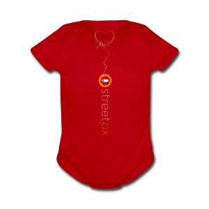 Hanging Heart - Short Sleeve Baby Bodysuit