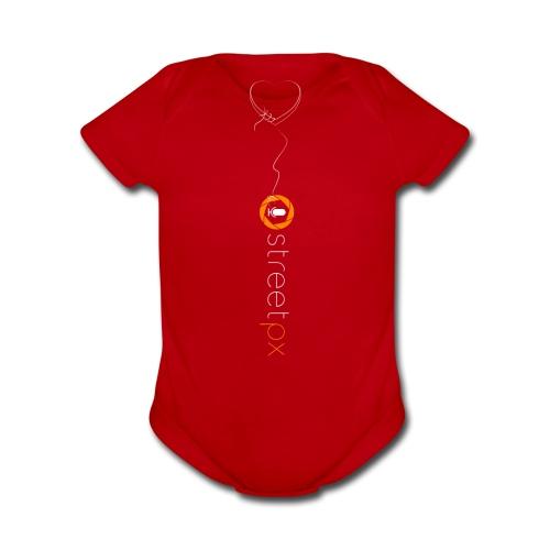 Hanging Heart - Organic Short Sleeve Baby Bodysuit