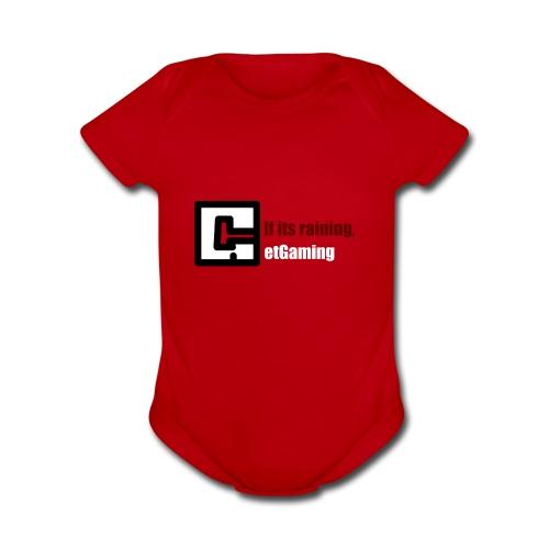 GetGaming or its Raining - Organic Short Sleeve Baby Bodysuit