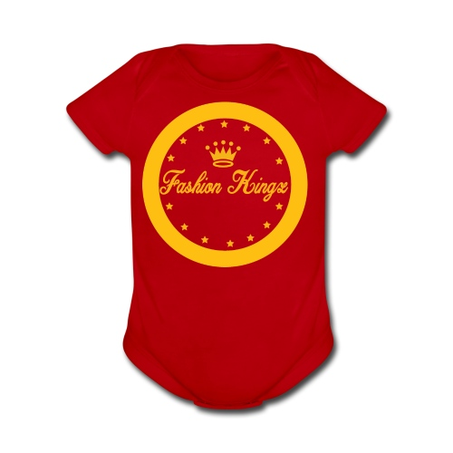 Fashion Kingz circle - Organic Short Sleeve Baby Bodysuit