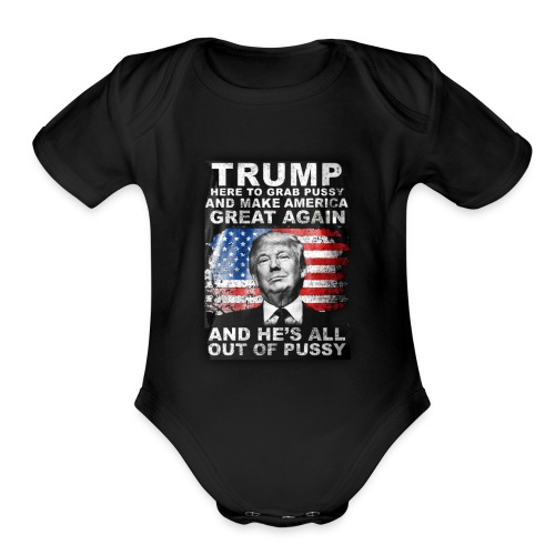 Trump is Here! - Organic Short Sleeve Baby Bodysuit