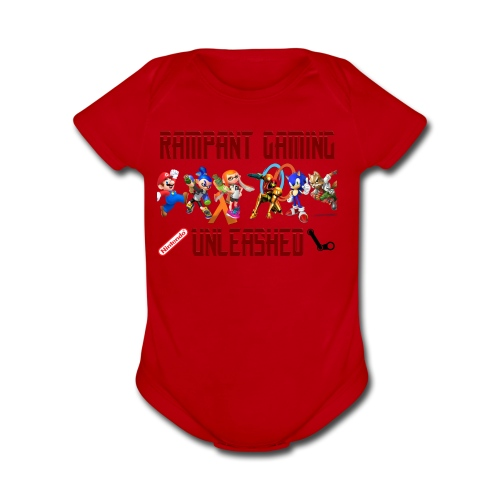 Rampant Gaming Unleashed - Organic Short Sleeve Baby Bodysuit