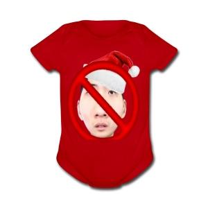 Christmas Ricegum Not Allowed - Short Sleeve Baby Bodysuit