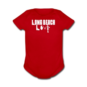 Long Beach Love - Short Sleeve Baby Bodysuit