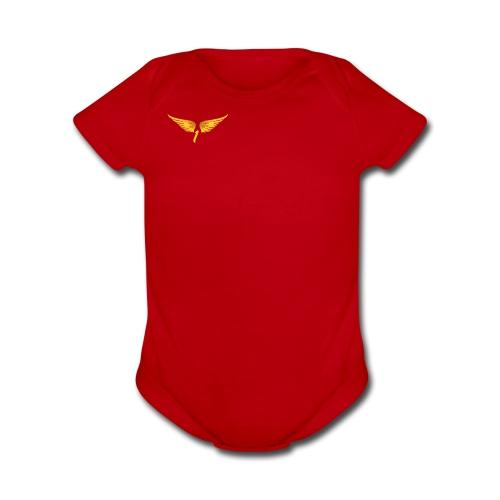 Gold1LIFENUMBER - Organic Short Sleeve Baby Bodysuit