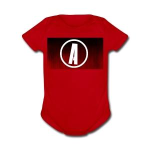 AlphaApexTV Logo Merch - Short Sleeve Baby Bodysuit