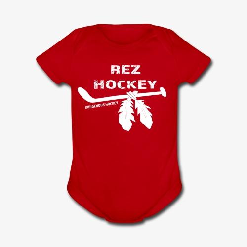 Rez Hockey - Organic Short Sleeve Baby Bodysuit