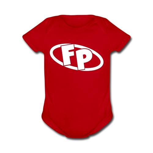 Secondary FRESHPOPCORN Logo - Organic Short Sleeve Baby Bodysuit