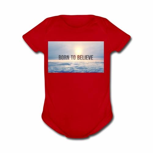 BorntoBelive Merch - Organic Short Sleeve Baby Bodysuit