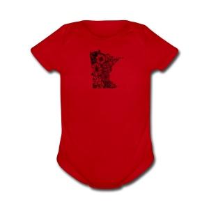 MINNESOTA MN WILDFLOWER - Short Sleeve Baby Bodysuit