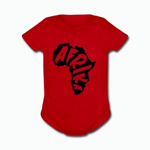 Black Afrika with transparent word - Short Sleeve Baby Bodysuit