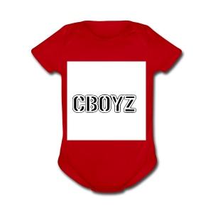 C Boyz logo - Short Sleeve Baby Bodysuit