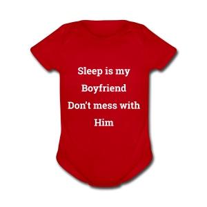 I love sleep - Short Sleeve Baby Bodysuit