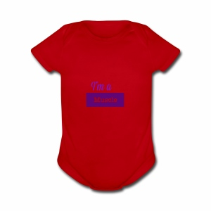 I'm a muscle - Short Sleeve Baby Bodysuit