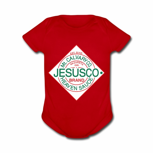 Jesusco t-shirt - Organic Short Sleeve Baby Bodysuit