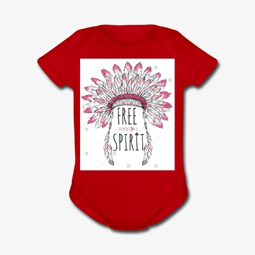 Free Spirit! - Organic Short Sleeve Baby Bodysuit