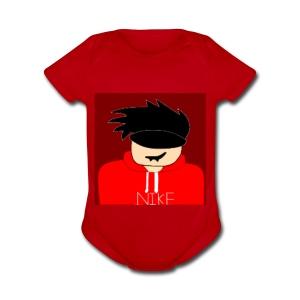 my youtube roblox GFX icon - Short Sleeve Baby Bodysuit