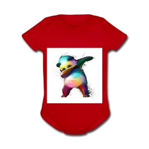 dabing panda limited edition - Short Sleeve Baby Bodysuit