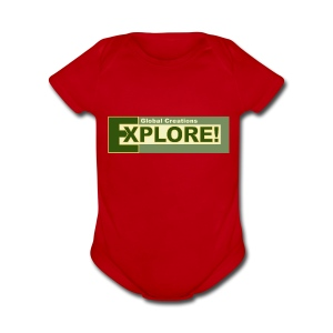 Explore Logo - Short Sleeve Baby Bodysuit