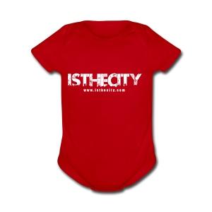 IstheCITY.com White - Short Sleeve Baby Bodysuit