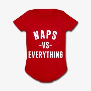 Naps VS Everything - Short Sleeve Baby Bodysuit