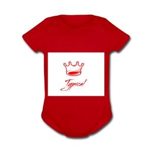 typical royalty - Short Sleeve Baby Bodysuit
