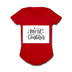 baby first chirstmas - Short Sleeve Baby Bodysuit