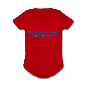 Red 2032 - Short Sleeve Baby Bodysuit