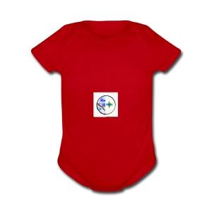 slime,sims all in one - Short Sleeve Baby Bodysuit