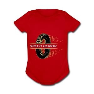 speed demon vintage - Short Sleeve Baby Bodysuit