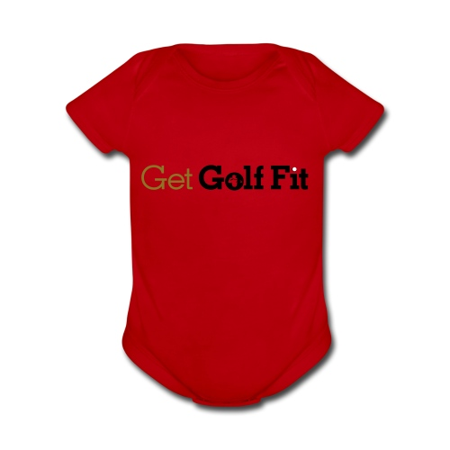 CH GetGolfFit Logo Final Green - Organic Short Sleeve Baby Bodysuit