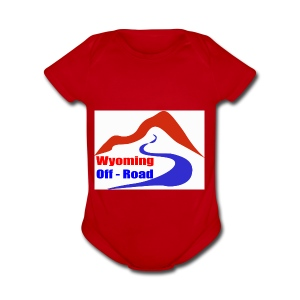 Wyoming Off Road Logo - Short Sleeve Baby Bodysuit