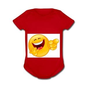 emoticon - Short Sleeve Baby Bodysuit