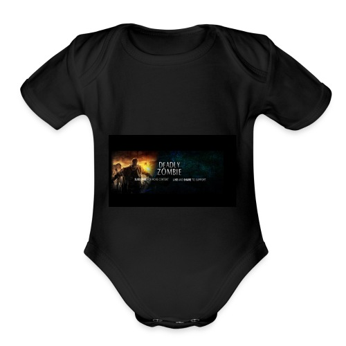 Deadly_Zombies_-1- - Organic Short Sleeve Baby Bodysuit