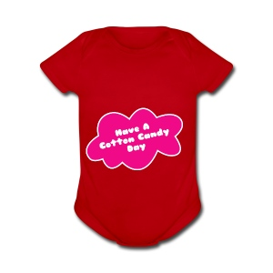Cotton candy - Short Sleeve Baby Bodysuit