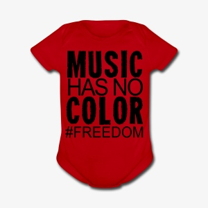 MUSIC HAS NO COLOR - Short Sleeve Baby Bodysuit