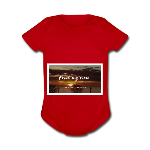 THE HAPPY CANADIAN - Organic Short Sleeve Baby Bodysuit