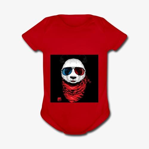 Blood gang up - Organic Short Sleeve Baby Bodysuit