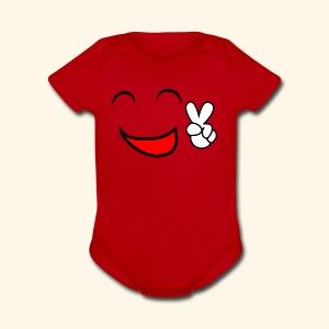 Comic smile - Short Sleeve Baby Bodysuit