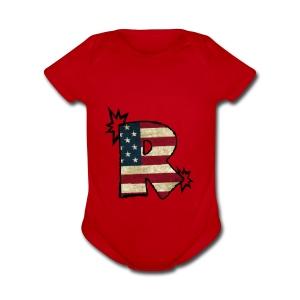 SuppzReviews R Logo - Short Sleeve Baby Bodysuit