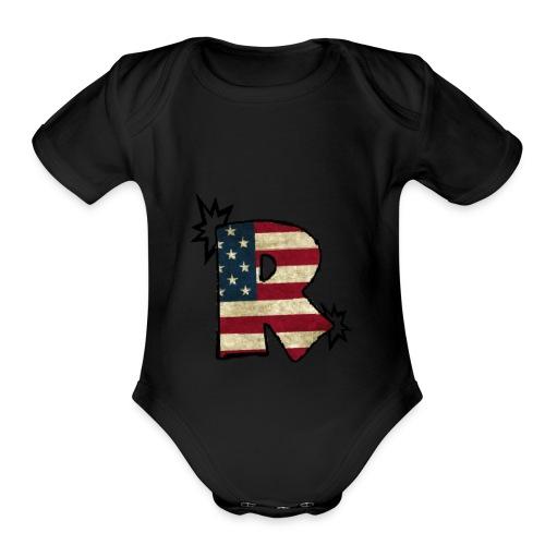 SuppzReviews R Logo - Organic Short Sleeve Baby Bodysuit