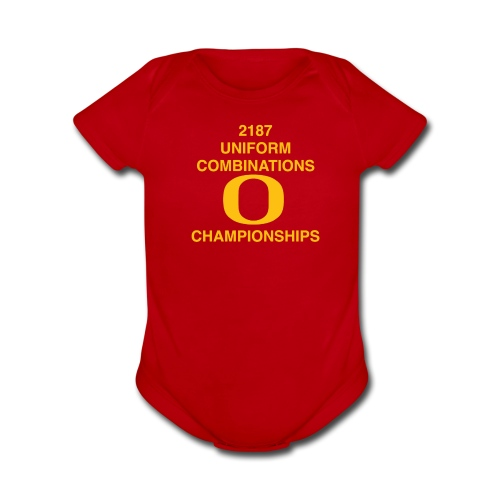 2187 UNIFORM COMBINATIONS O CHAMPIONSHIPS - Organic Short Sleeve Baby Bodysuit